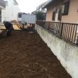 凸凹庭を本格 リノベーション 重機掘削 茨城 守谷