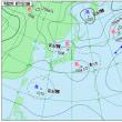 8月17日 アメダスと天気図。
