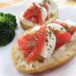 トマトとモッツアレラチーズのカプレーゼ風 朝ごはん(*^^)v
