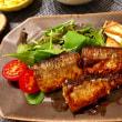 秋刀魚の照り焼きの夕ご飯