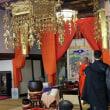 「義宣寺ではお涅槃会」色とりどりのお団子撒き。