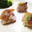 鶏もも肉のパリパリ焼き~3種類の塩をかけて~