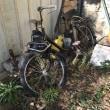 80歳自分へのご褒美旅 20 フォンソワーズの庭で自転車バイクを発見