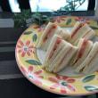 休日ランチ☆サンドイッチ(ハムチーズ&トマトチーズ)☆