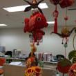 金魚の飾りと水槽メンテナンス