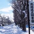 北海道立図書館と北海道らしい風景と
