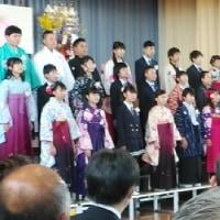 岡田小学校卒業式  人参播種潅水