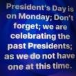 祝う人のいない「大統領の日」