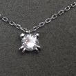 1粒ダイヤモンドネックレスをネコちゃんのデザインにリフォーム