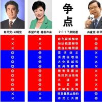 大手新聞・テレビの方達、選挙戦の構図は2極だわよ!