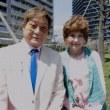 片岡五郎とマダム路子のエンジョイライフ・桜吹雪の中で!