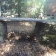 玉敷神社の境内に架かる橋はどこからやってきた?