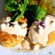 メーグルのオーヴン焼きと再生料理の魚の揚げないコロッケ