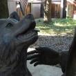 東大でビジネスランチ、忠犬ハチ公像