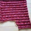 【毛糸だま173号】スキーアデッサの横編みプルオーバー編み途中