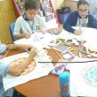 8月25日(金)サンアンソニー校で図工交流