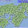 6月22日 アメダスと天気図。