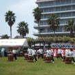 玉野市、渋川海岸の藤まつり─マリンフェスティバル・インたまの開会