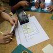 小学校の図工室で建築士の仲間達と、建築設計/はじめの一歩の授業をしました