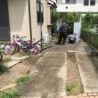 雨の多い夏 止み間を狙って コンクリート打設 千葉 印西