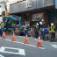 八戸六日町で道路の工事H25.4.9(火)