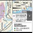 西日本豪雨。岡山県倉敷市真備町 1970年代に70センチまで浸水。高梁川流域で1893年以降、100棟以上の浸水水害が11回