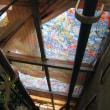 とりあえず吹き飛んだ物干しの屋根の応急処置