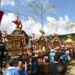 真紅の枠旗(大幟旗)五穀の豊饒を感謝・新宮祭