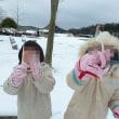 雪と戯れる