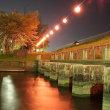 酒津公園の夜桜