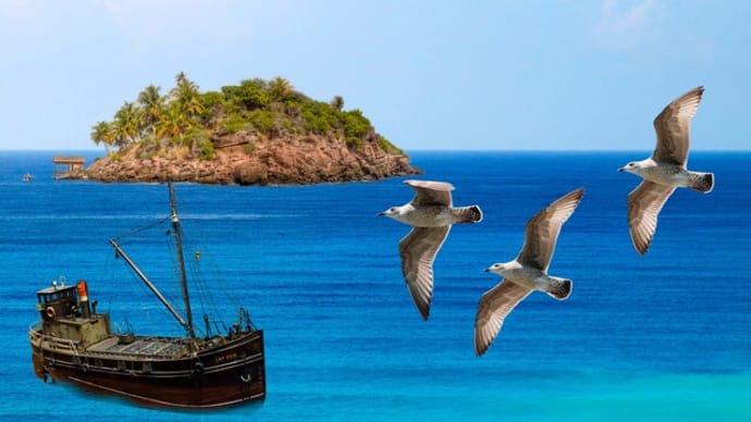 海画像に島を配置~Photoshop Elements