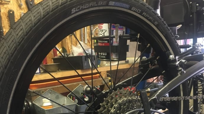 タイヤは太めの方がいい? tern verge N8 シュワルベ ビッグアップル