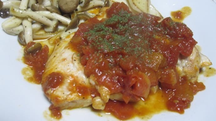 チキンのトマトソース煮込み。