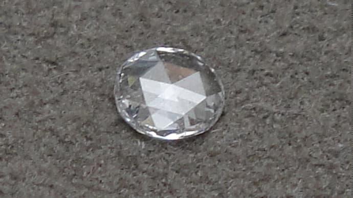 ローズカットダイヤモンド ロングネックレス