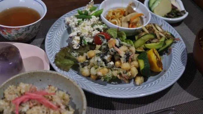 梅雨どきの玄米菜食