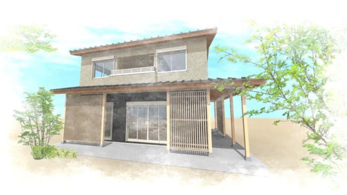 奈良県葛城市内での郊外での豊かさとロケーションを楽しむ暮らしの提案設計デザイン中のところ・・・間取りの提案ではなくて暮らしの提案ですよ、豊かな暮らしの意味をデザイン提案。