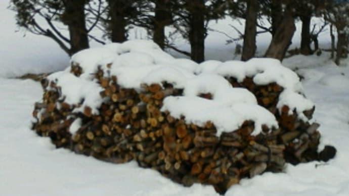 雪が残っています