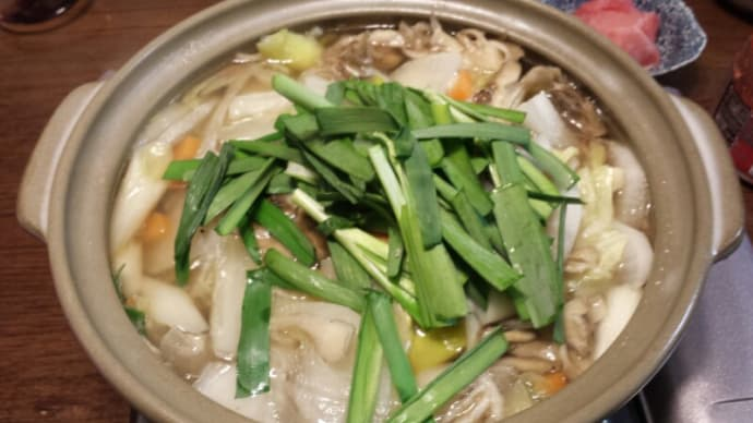 2/8の夕飯(鶏塩鍋)/TBS「いっぷく」
