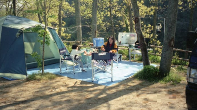 カルディアキャンプ場③📷広くて快適なドームテント張って春キャンプーぶらり旅15