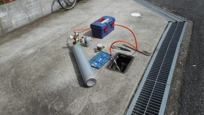 ガスで漏水調査・・・千葉市