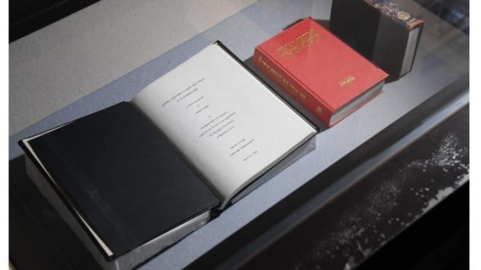 「御即位記念特別展 令和の御代を迎えて」三の丸尚蔵館 雅子皇后陛下の「ハーバード大学経済学部の卒論」や「使用された辞書」等も