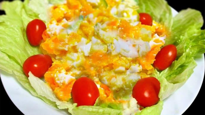 卵ポテサラ ~卵たっぷり5割増しで散りばめる~