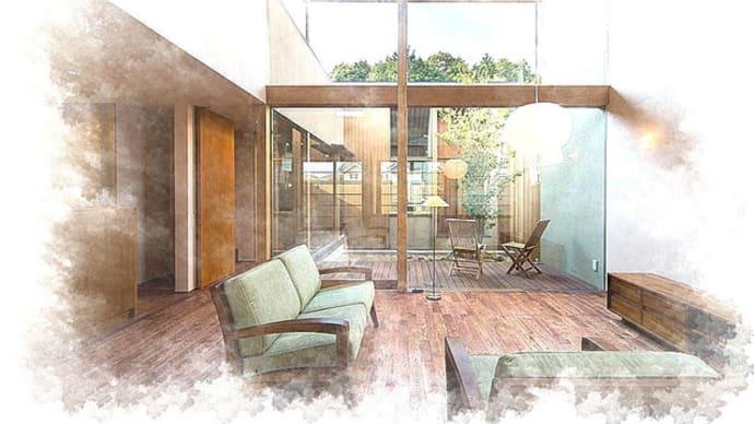 中庭や坪庭、窓の種類と位置関係で変化する空間の開放性と可能性、和モダンの暮らしの趣をシンプルにデザインしつつガラスを効果的にレイアウトする設計デザインの効果という価値。
