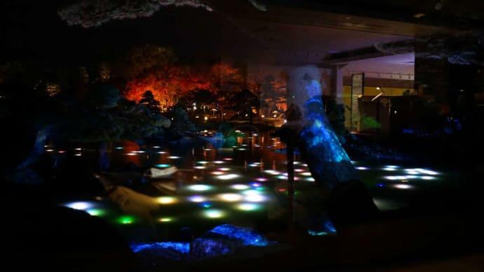 島根県 大根島  由志園の紅葉とイルミネーション