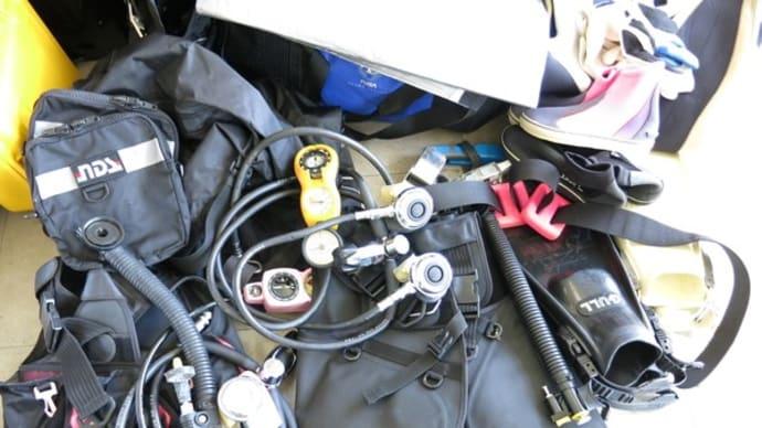 ダイビング器材の引取をしました