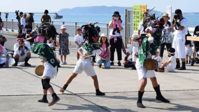 青柳日枝神社のかっこ舞(館山市)