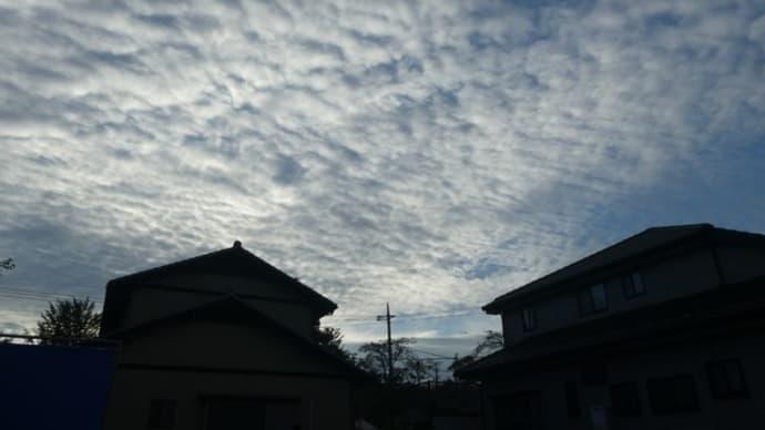 9月18日、午前6時過ぎの空模様