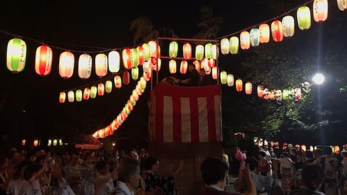 養源寺の盆踊りと池上仲通り商店会の「ちびっこ大集合」