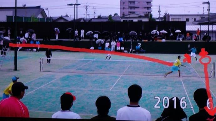山口県高等学総合体育大会(ソフトテニス競技)団体戦2戦目(3回戦)その2