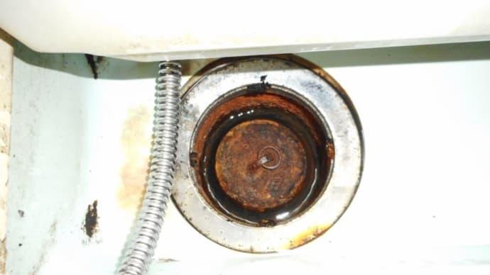 お風呂場の防臭ワンの交換・・・千葉市営住宅